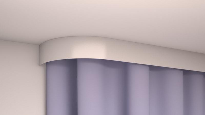 вариант потолочный карниз на натяжной потолок фото белый проводимые большим